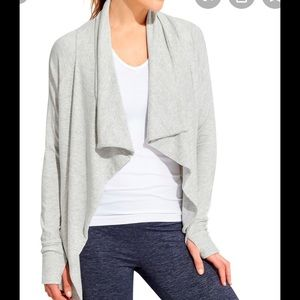 Athleta studio wrap light heather grey M